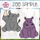FREE SAMPLE of ZOO ANIMAL SET!