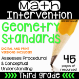 FREE SAMPLER 3rd Grade Math Intervention Pack GEOMETRY NO PREP Guided Math