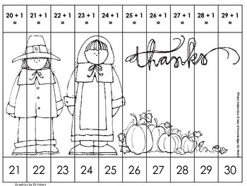 FREE SAMPLER Counting & Addition Picture Number Puzzles {Thanksgiving Edition}