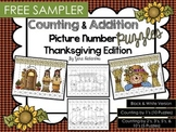 FREE SAMPLER Counting & Addition Picture Number Puzzles {T