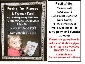 FREE SAMPLER: Poetry for Phonics & Fluency Fun! Gr. K-2