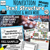 FREE SAMPLER: Text Structure Flipbook Common Core RI3.8 RI