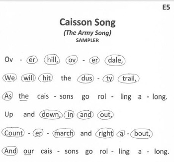 FREE SAMPLER - US ARMY SONG Easy Chimes & Bells Arrangement Caisson Song