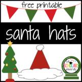 FREE SANTA HAT PRINTABLE TEMPLATE - Color/B&W