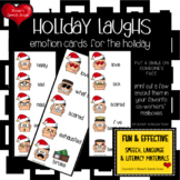 FREE SANTA HOLIDAY EMOTION CARDS speech therapy Sped Gen Ed teachers