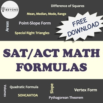 FREE SAT Math Formulas