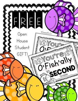 FREE SECOND GRADE Student Gift