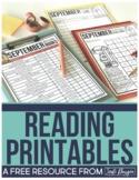 FREE SEPTEMBER READING RESOURCES for ELEMENTARY TEACHERS