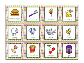 FREE! SH-CH-J Game Cards for Articulation Practice