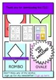 FREE SHAPE CARDS TO TEACH ITALIAN&ENGLISH! ESL TEFL