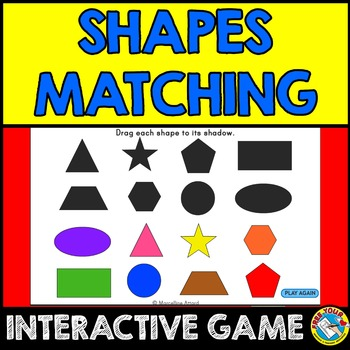 FREE SHAPES INTERACTIVE ACTIVITY: SHAPES MATCHING GAME: 2D