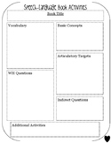 FREE SLP Book Companion Lesson Plan Template