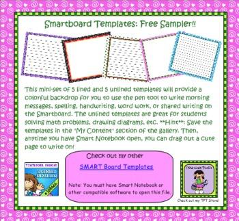 FREE SMART Board Templates