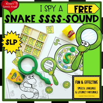 FREE SNAKE SPEECH ARTICULATION  worksheets EASY PREP NO PREP FREE