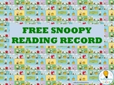 BOOK RECORD-SNOOPY THEME FREEBIE.