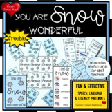 FREE SNOW WINTER EMOTION CARDS adjectives speech therapy Sped Gen Ed teachers