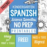 FREE SPANISH No-PREP pages for Kindergarten Doodles