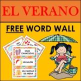 FREE SPANISH SUMMER VOCABULARY: WORD WALL (EL VERANO)