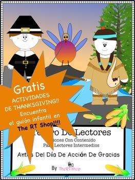 FREE  SPANISH THANKSGIVING ACTIVITIES (El Día De Acción De