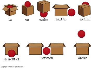 SPATIAL CONCEPTS ACTIVITY CHART