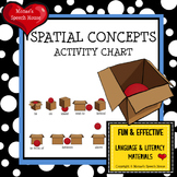 SPATIAL CONCEPTS ACTIVITY CHART