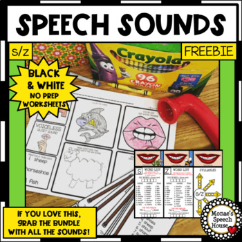 FREE SPEECH SOUNDS Speech Therapy WORKSHEETS low prep