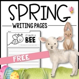 FREE SPRING Writing Pages - Creative Writing Prompts / Distance Learning
