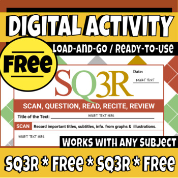 FREE SQ3R Digital/Interactive Graphic Organizer