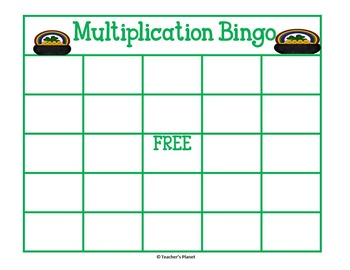 FREE! St. Patrick's Day Multiplication Bingo