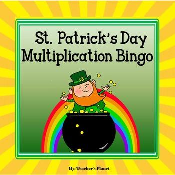 FREE! St. Patrick's Day Multiplication Bingo