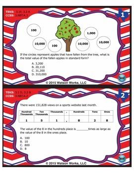 FREE STAAR Wars 3rd Grade Math Task Cards