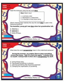 FREE STAAR Wars 4th Grade Reading Task Cards