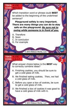 FREE STAR READY 4th Grade Writing Task Cards {TEKS-aligned}