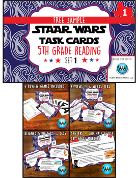 FREE STAAR Wars 5th Grade Reading Task Cards