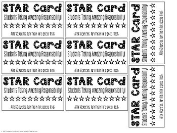 FREE: STAR Card for Class Management & Rewards