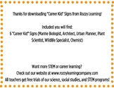 FREE STEM Career Signs for K-2!