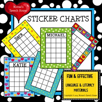 picture about Printable Incentive Charts named Cost-free Sticker Charts Worksheets Education Materials TpT
