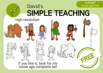 Free Stone Age Family+mammoth+axe - Familia de la Edad de Piedra Gratis