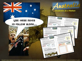 """FREE STRUCTURED NOTES for the """"History of Australia"""" (4 - PART unit)"""