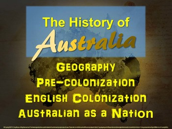 """FREE STRUCTURED NOTES for the """"History of Australia"""" (4 -"""