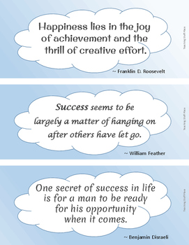 FREE . . .  SUCCESS QUOTES for Bulletin Boards . . . FREEBIE