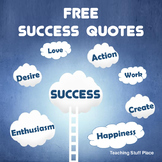 FREE . . .  SUCCESS QUOTES for Bulletin Boards ⭐  FREEBIE
