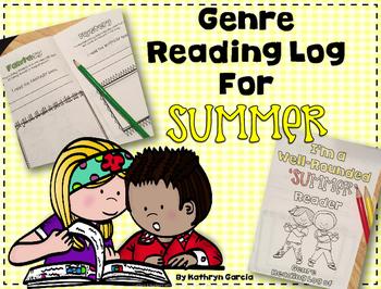FREE SUMMER Genre Reading Log