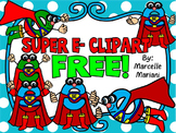FREE SUPER E CLIP ART-COMMERCIAL USE-COLOUR AND BLACK-WHITE