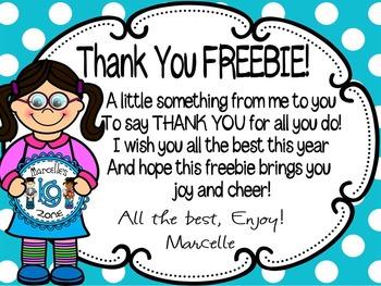 FREE- SURPRISE THANK YOU FREEBIE
