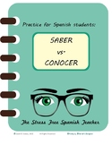 Saber vs Conocer Practice Worksheet with Teacher Key #COVID19WL