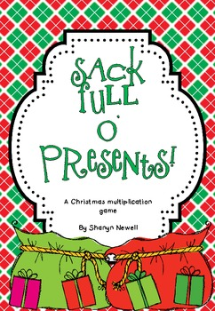 {FREE} Sack Full O' Presents {A Multiplication Game}