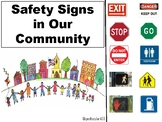 FREE Safety Sign Adaptive Book