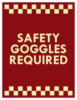 FREE! Safety Signs! Be safe in lab!