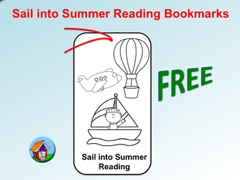 FREE Sail into Summer Reading Bookmarks (To Color)